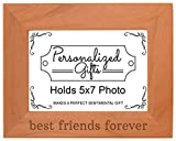 Cheap ThisWear Best Friends Forever Gift Besties BFF Gift Natural Wood Engraved 5×7 Landscape Picture Frame Wood