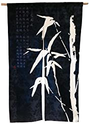 Japanese Style Noren Door Curtain With Bamboo Design