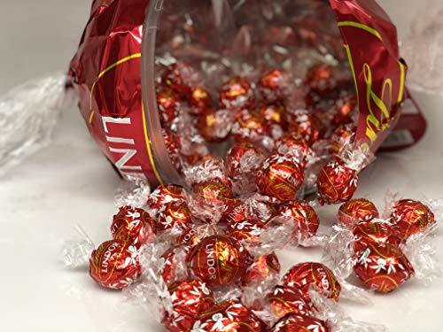 Lindt LINDOR Giant Red Ball, Milk Chocolate Truffles, Kosher, 18.6 Ounce (With about 45 Regular Size Milk Chocolate Truffles inside) Perfect For Mother's Day