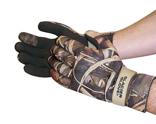 Glacier Glove Pro Waterfowler Waterproof Neoprene Gloves, Max 5, X-Large
