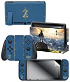 """Nintendo Switch Skin & Screen Protector Set, Officially Licensed by Nintendo – The Legend of Zelda Breath of the Wild """"The Legend of Zelda"""" Review"""