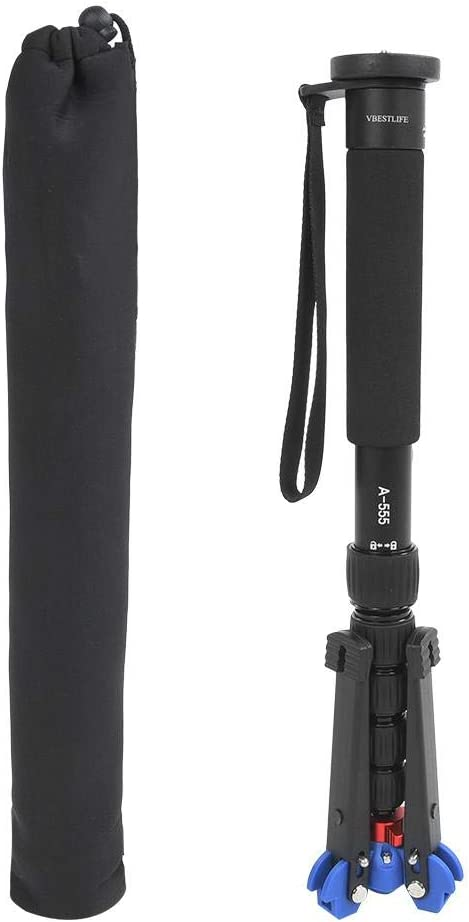 Qinlorgo Monopod,Telescopic Monopod VBESTLIFE A555+M-2 Camera Monopod with 6 Sections for Camera Photograph Accessory