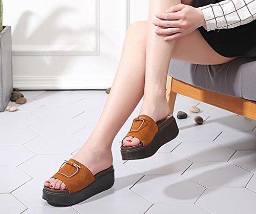 Summer women slippers Sandals slippers Women's fashion Flat slippers Wear non-slip sandals Flat Sandals,Fashion sandals (Color : B, Size : 36) B