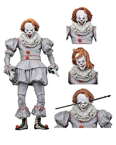 WOIA 1990 The Movie It Pennywise Clown Old Edition Action Figure Toys Dolls for Halloween Decoration Horror Gift Cool Must Haves 2 Year Old Girl Gifts Girls Favourite Characters Superhero Cake Topper