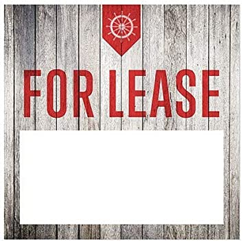 5-Pack Nautical Wood Window Cling CGSignLab for Lease 12x12