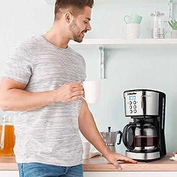 Mueller UltraBrew Coffee Maker, Programmable 12-Cup Machine, Multiple Brew Strength, Keep Warm