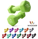 Wacces Neoprene Dipped Coated Set of 2 Dumbbells Hand Weights Sets Non Slip Grip 2 x 4 LB Review