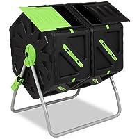 Garden Point Compostador de Tambor de 2 x 70l | Equipado con Orificios de ventilación | Fabricado en Polipropileno y…