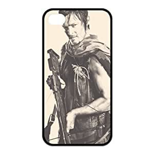 The Walking Dead Daryl Dixon iPhone 4/4S Back Cover Case Hard Plastic iPhone 4/4s Case A04 by Maris's Diary