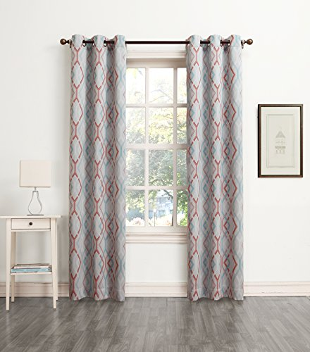 Sun Zero Millennial Addie Energy Efficient Curtain Panel, 40 by 84 Inch, Stone
