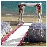 personalized aisle runner - ShinyBeauty 4FTX15FT-Wedding Aisle Runner-White,Glitter Carpert Runner,Sequin Aisles Floor Runner,Wedding Ceremony Decor