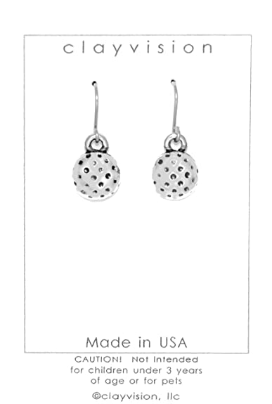 Amazon.com  Clayvision Golf Ball Charm Earrings with No Swarovski ... dc5dbd5504
