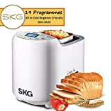 Appliances : SKG Automatic Bread Machine 2LB - Beginner Friendly Programmable Bread Maker (19 Programs, 3 Loaf Sizes, 3 Crust Colors, 15 Hours Delay Timer, 1 Hour Keep Warm) - Gluten Free Whole Wheat Breadmaker