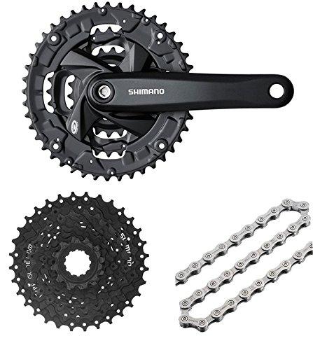 Shimano Altus 9 velocidad FCM 371 bicicleta espectador negro 44T + ...
