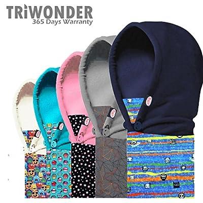 Triwonder Children's and Kids Thermal Fleece Full Face Cap Hat Neck Warmer Face Mask Balaclava Hat