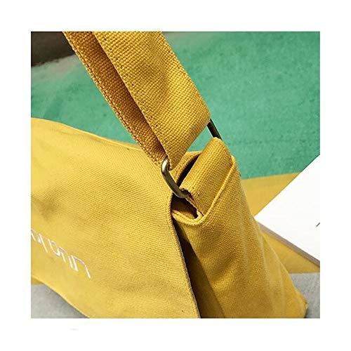 Le Le Le Occasionnel Sac Femmes Yellow Satin De De Toile De Nouvelles Simple des D'Épaule Toile Fashion Joker Gueules GWQGZ Sac De Mode FgqwzUq