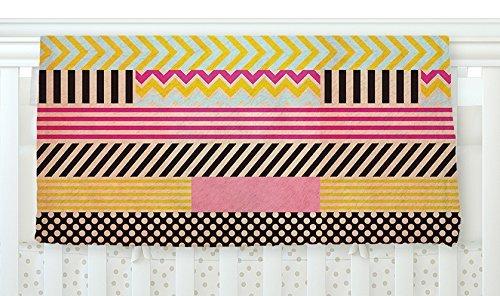 KESS InHouse Louise Machado Decorative Tape Red Orange Fleece Baby Blanket 40 x 30 [並行輸入品]   B0785R2FW5