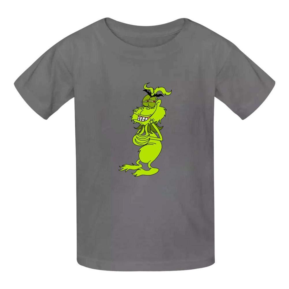 DAGARR Dr.Seuss Grinch Face Boys Girls Print Cool T-Shirt Teen Kid Short Sleeve Pullover Tees