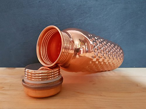 Pure Copper yoga Handmade Diamond Hammered Design Leak Proof Bottle 1000 ML diamond hammered design Copper Bottle Outside Lacquer Coated, inside polish Health Benefit Leak Proof 1000 ml copper bottle