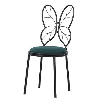 Amazonde Zwd Fliege Stuhl Metall Rückenlehne Stuhl Einfache Make