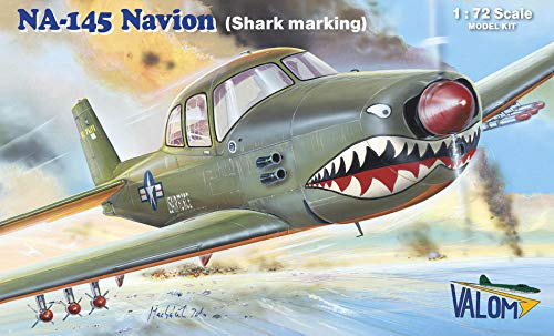 Valom 1/72 Scale N.A. NA-145 Navion (Shark Marking) - Plastic Model Building Kit # 72135 1