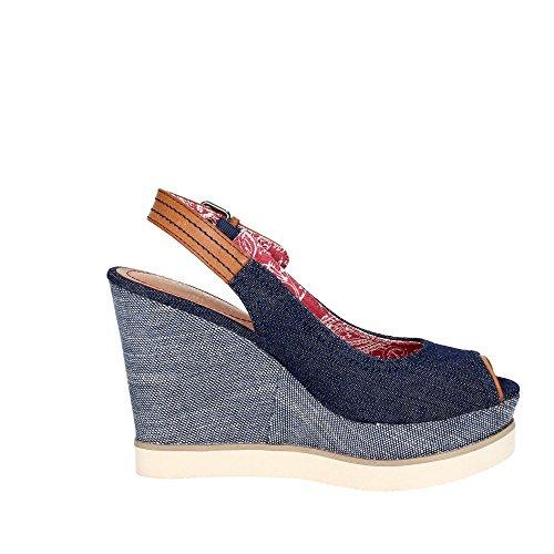 Wrangler WL171682 Chaussures Compensées Femme Fibres Textiles Bleu 40