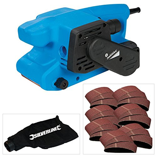 Silverline 730W Electric Belt Sander plus 22 Assorted Grit Sanding Belts