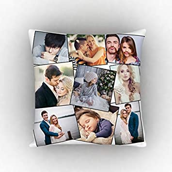Buy The Purple Tree Personalized Photo Collage Cushion With 9 Photos