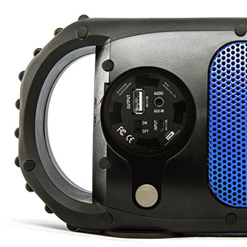 ECOXGEAR GDI-EGST702 ECOSTONE Bluetooth Waterproof Speaker Blue