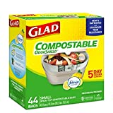 Glad 100% Compostable Bags - Small 10 Litres - Lemon Scent, 44 Trash Bags