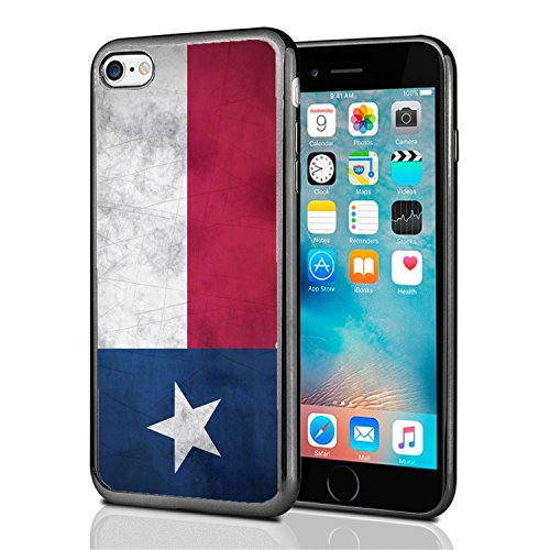 Texas Grunge Flag for iPhone 7 (2016) & iPhone 8 (2017) Case Cover by Atomic Market