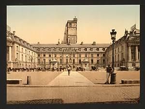 Vista de la vendimia del Ayuntamiento, Dijon, Francia, Gran A3 tamaño 41 por 29 cm Lienzo