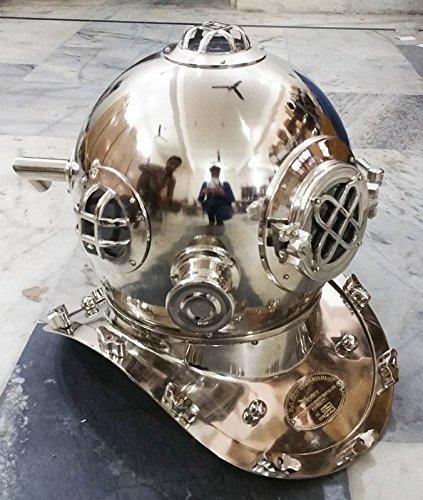 Maritime Vintage Morse Us Navy Mark V Diving Divers Sea Helmet Solid Steel Marine Gift Other Maritime Antiques