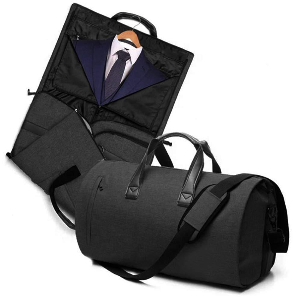 V-Vitoria Suit Duffel Bag with Shoulder Strap for Travel Business Carry on Foldable Garment Bag (Black)