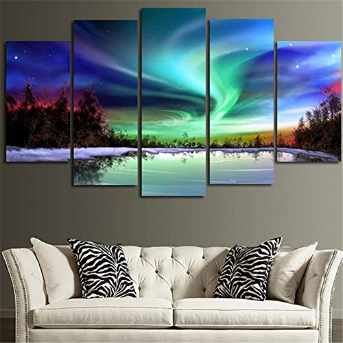 Amazon.com: KLKLDD 5 Piece Wall Art Picture for Room Canvas ...