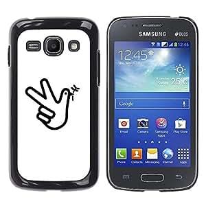 YOYOYO Smartphone Protección Defender Duro Negro Funda Imagen Diseño Carcasa Tapa Case Skin Cover Para Samsung Galaxy Ace 3 GT-S7270 GT-S7275 GT-S7272 - una pistola de mano pájaro, wow wow