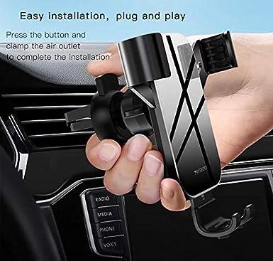 Yesido car Phone Holder car Phone Mount 360-angle Adjustable Mobile Phone Tuyere Clip Holder Holder Universal Gravitation car Phone Holder