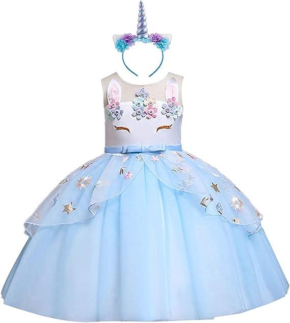Disfraz Halloween Princesa Bebé Niña Vestido Cumpleaños Unicornio ...