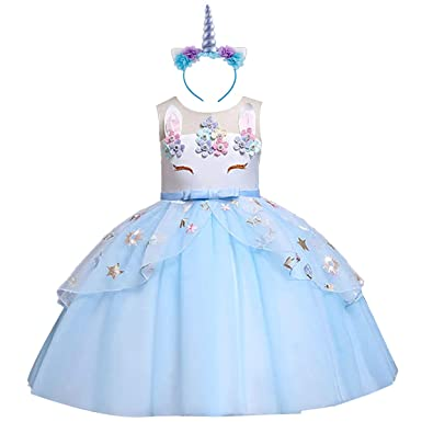 8ed2578e4 Girls Unicorn Costume Cosplay Dress Party Outfit Fancy Dress Princess Tutu  Skirt for Festival Performance Birthday