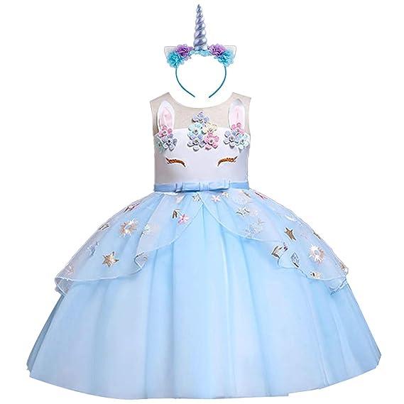 Disfraz Halloween Princesa Bebé Niña Vestido Cumpleaños Unicornio Cosplay Costume Tutu Falda Baile Ropa para Chicas Fiesta Carnaval Velada Navidad ...