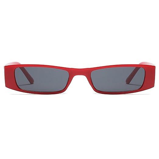 140e9da122 Vintage Gafas de sol Extremo delgado pequeña Lente Gafas de sol  rectangulares coloreadas: Amazon.com.mx: Ropa, Zapatos y Accesorios