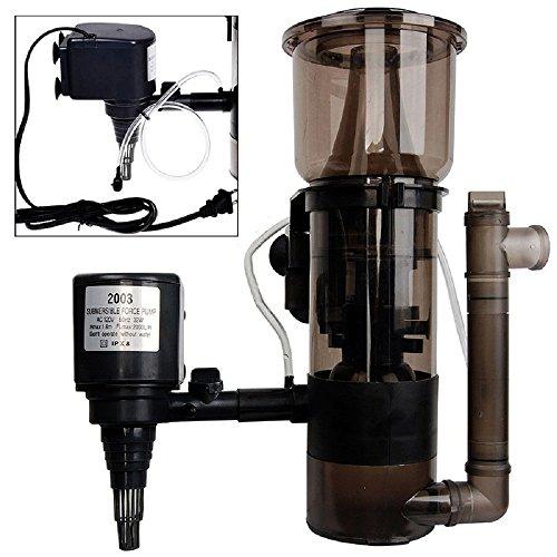 JDM Auto Lights 150 Gal Aquarium Protein Skimmer 530 GPH Marine Water Tank Pump Filter Powerhead (Best Protein Skimmer For 150 Gallon Tank)