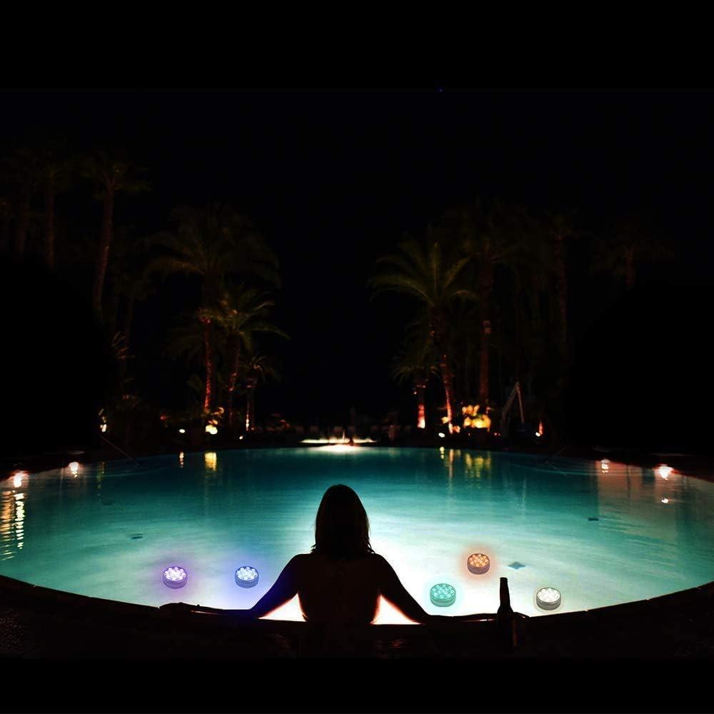 Halloween Winzwon Lot de 2 lampes de piscine /à LED avec t/él/écommande aimant/ée IP68 /étanche 13 LED pour vase Base f/ête No/ël piscine