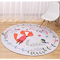 Multi-size Cartoon Animal Round Carpet Area Floor Rug Doormat LivebyCare Entrance Entry Way Front Door Mat Ground Rugs for Decor Decorative Kids Children Bedroom