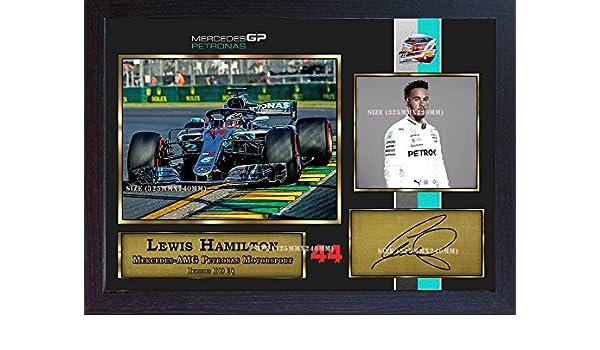 S&E DESING New 2018 Lewis Hamilton Signed Autograph Print Photo Formula 1  Grand Prix Framed