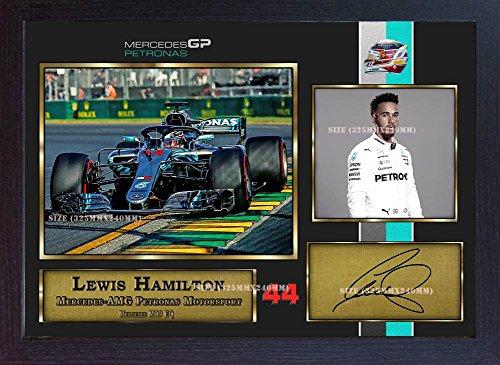 S&E DESING New 2018 Lewis Hamilton Signed Autograph Print Photo Formula 1 Grand Prix -