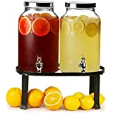 Dual Barrel Beverage Dispenser With Stand 10ltr Case Of