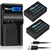 OAproda 2 Pack New Upgraded LP-E17 Battery and Smart LCD Display USB Charger for Canon EOS Rebel SL2, T6i, T6s, T7i, M3, M5, M6, 200D, 750D, 760D, 800D, 77D, 8000D, KISS X8i Digital Cameras