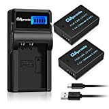 OAproda New Upgraded LP-E17 Battery (2 Pack) with Smart LCD Display USB Charger for Canon EOS M3, M5, M6, Rebel SL2, T6i, T6s, T7i, EOS 77D, 750D , 760D, 8000D, KISS X8i Digital Cameras (Fast Charge)