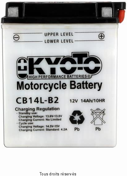 Motorcycle battery YB14L-B2 12V 14Ah Kyoto